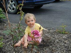 The Girl in my front-garden.