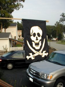 My husband's flag.