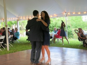 Sharon dancing with Dan, her son, at his wedding.